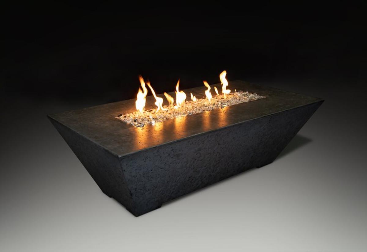 Linear Fire Table Black
