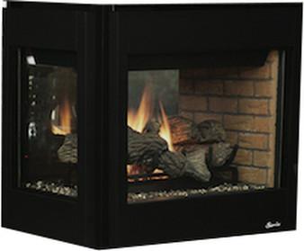"Superior DRT 40"" Peninsula Direct Vent Gas Fireplace"