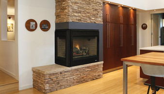 """Superior DRT 40"""" Two-Sided Corner Direct Vent Gas Fireplace"""
