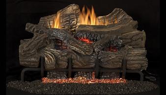 "Superior Glow-Ramp 18"" Smokey Mountain Vent Free Log Set"