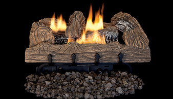 "Superior Double-Flame 18"" Townsend Bark Vent Free Log Set"