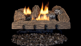 "Superior Double-Flame 24"" Townsend Bark Vent Free Log Set"