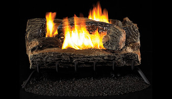 "Superior Double-Flame 27"" Mulit-Sided Vent Free Log Set"