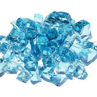 Athena  Reflective Calypso Light Blue Fire Glass