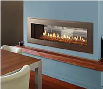 "Heatilator Crave 60"" See-Through  Gas Fireplace"