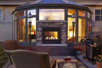 Hearth & Home Twilight II Modern Indoor/Outdoor See-Through Gas Fireplace