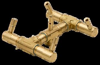 Warming Trends Linear Crossfire Brass Burner- CFB60