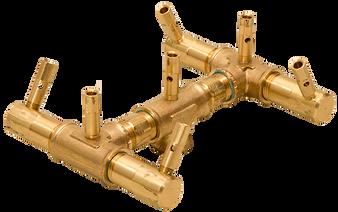 Warming Trends Original Crossfire Brass Burner- CFB84