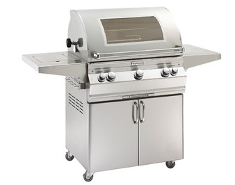 Fire Magic Aurora A660s-8 Portable Grill w/ Analog Thermometer & Flushed Mounted Single Side Burner