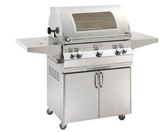 Fire Magic Aurora A660s-7 Portable Grill w/ Analog Thermometer & Flushed Mounted Single Side Burner