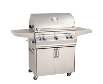 Fire Magic Aurora A540s-7 Portable Grill w/ Analog Thermometer & Flushed Mounted Single Side Burner