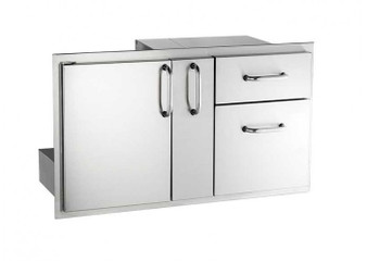 Fire Magic Access Door w/ Platter Storage & Double Drawers