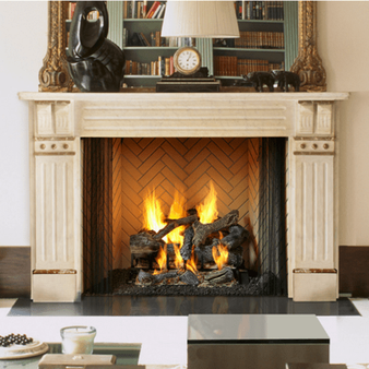 "Majestic Ashland 36"" Wood Fireplace"