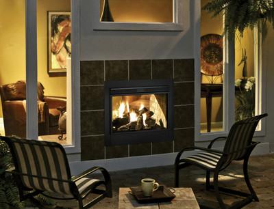 Heatilator Twilight II Indoor/Outdoor See-Through Gas Fireplace