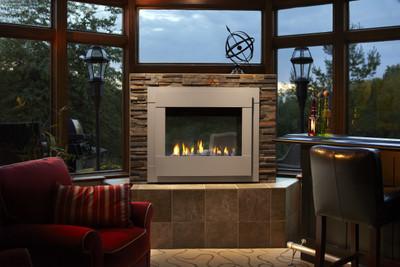 Heatilator Twilight II Modern Indoor/Outdoor See-Through Gas Fireplace
