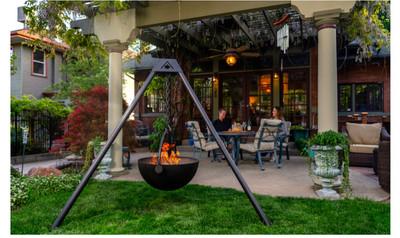 """Cowboy Cauldron """"The Dude"""" 24-Inch Diameter Steel Cauldron Fire Pit"""