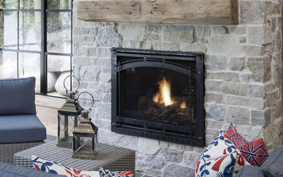 """Heat & Glo 6000CLX 36"""" Direct Vent Gas Fireplace"""