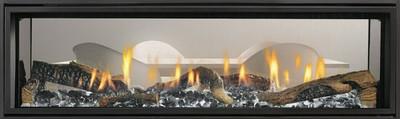 "Heat & Glo Mezzo 72"" See-Through Gas Fireplace"