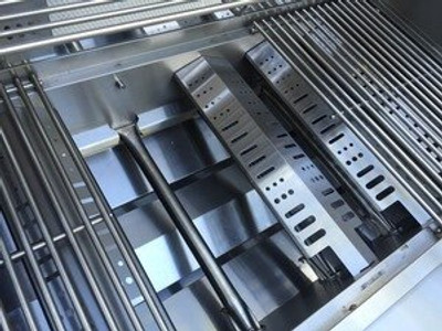 Mont Alpi 805 Black Stainless Steel Island w/ Fridge Cabinet