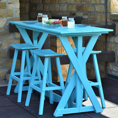 Kanyon Living Bar Height Harvest Table Set