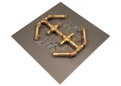 Warming Trends Octagonal Crossfire Brass Burner - CFBO140