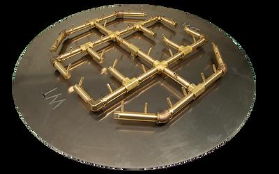 Warming Trends Octagonal Crossfire Brass Burner - CFBO360