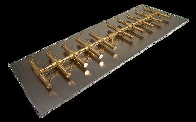 Warming Trends Double Tree-Style Crossfire Brass Burner - CFBDT400