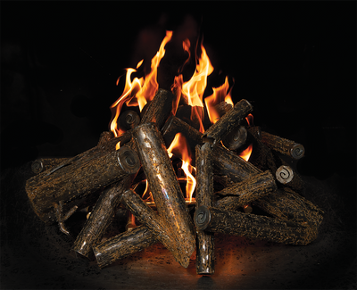 Warming Trends Square Tree-Style Crossfire Brass Burner - CFBST240