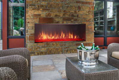 "Majestic Lanai 60"" Outdoor Linear Gas Fireplace"