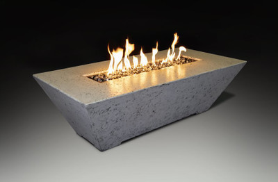 Linear Fire Table White