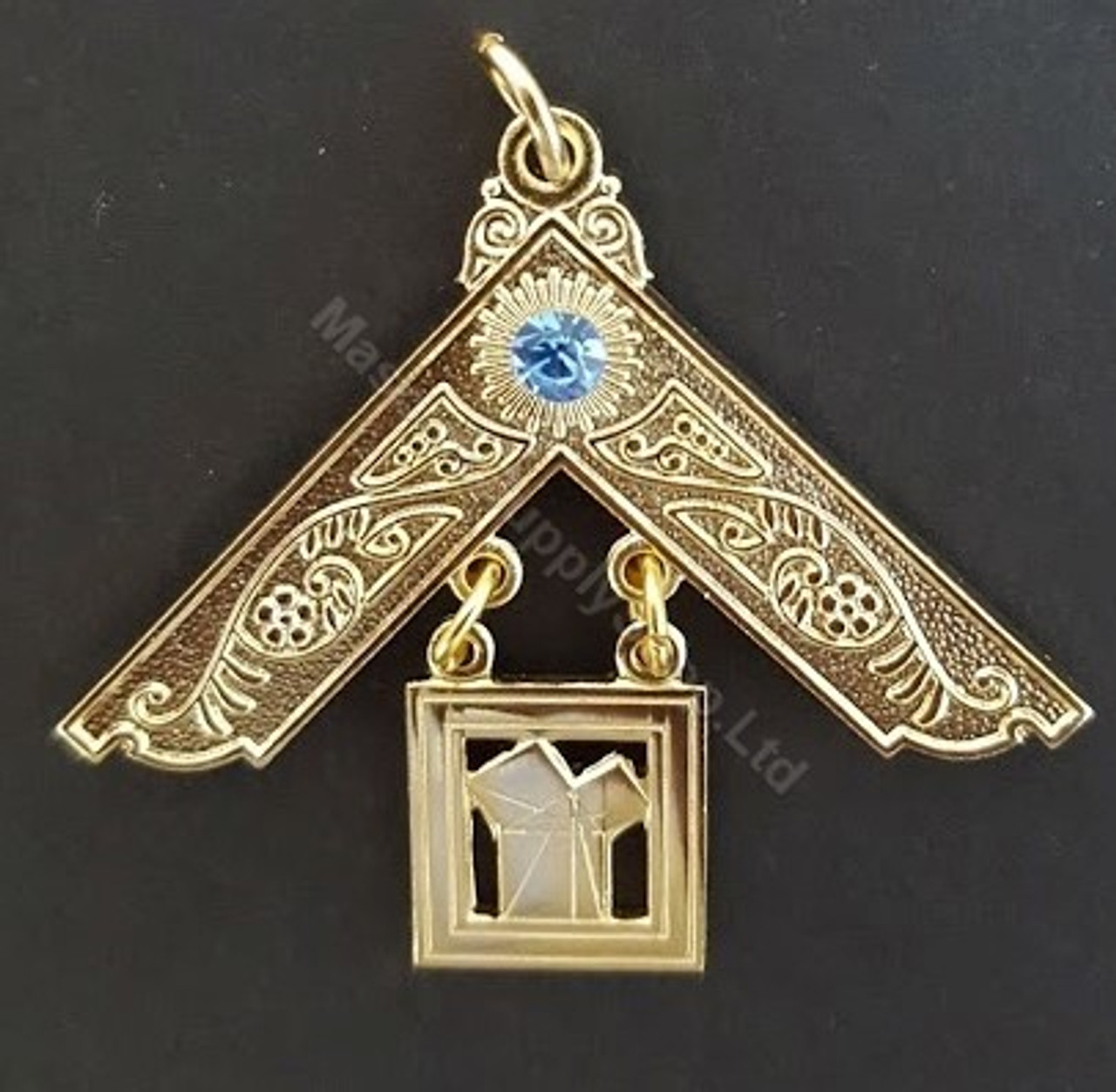 Past Master Breast Jewel with Blue Stone - Style 2