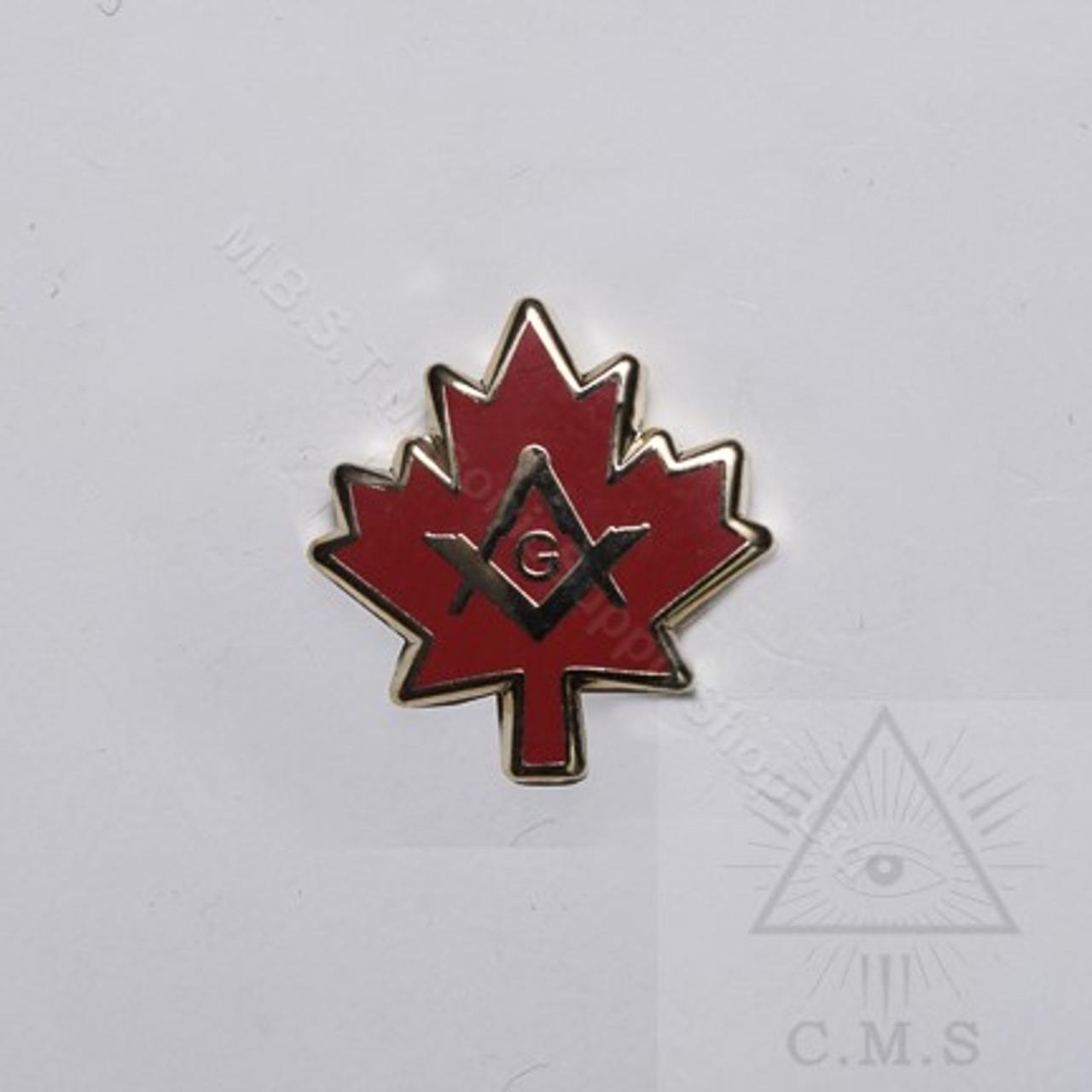 "Freemason Canada Lapel Pin M 1//2/"" Maple Leaf Mason Pin New"