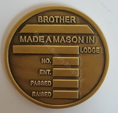 Masonic Presentation Coin  with  Custom Engraving