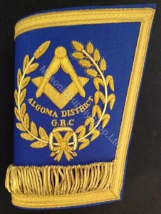 Masonic Grand Lodge Cuffs or Gauntlets