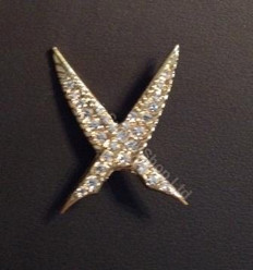 Order of the Easter Star Pin Officer Jewel  Crossed Quills