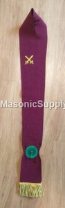 Knight Mason Red Sash Crimson