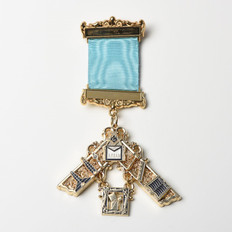 Masonic Past Masters Jewel with Working Tools