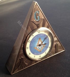 Masonic Triangle  Desk Clock-48