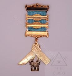 Four Bar Masonic Past Masters Jewel