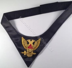 Scottish Rite Cravat 33rd     Hand Embroidered
