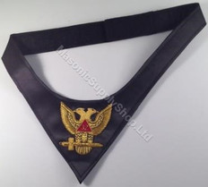 Scottish Rite Cravat 32nd    Hand Embroidered
