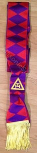 ROYAL ARCH  GRAND OFFICER SASH (HP) PURPLE DIAMONDS   SASH-RA-GHP