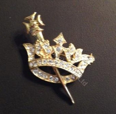 Order of the Easter Star Pin Officer Jewel -Crown and Sceptor