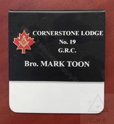 Maple Leaf Name Badge