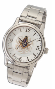 MASONIC LODGE WATCH WITH STAINLESS STEEL FOLDOVER STRAP-43
