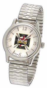 KNIGHTS TEMPLAR MASONIC WATCH WITH EXPANSION STRAP-24
