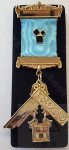 Masonic Past Master jewel  with  47th Problem