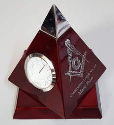 Cherry Wood Pyramid Clock-18