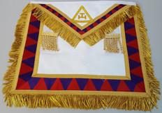 Royal Arch Companion's Apron with Gold Fringe /Trim     APR-RA-COM-F