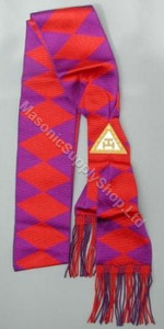 ROYAL ARCH COMPANIONS SASH    RED DIAMONDS